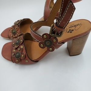 Patricia Nash Leona Leather Ankle Strap Sandals